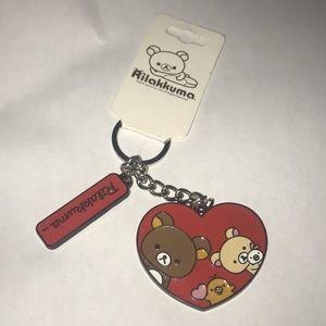 Rilakkuma new Keychain 2018 HEART BEARS-bioworld